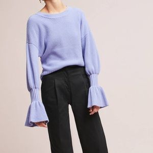 Anthropologie Lavender Bell Cuffed Sweater